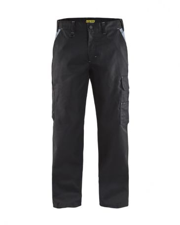 "CLEARANCE Blaklader 1404 Industry Trousers 100% Cotton, Twill (Black/Grey) C146 32L 32""W 33""L"
